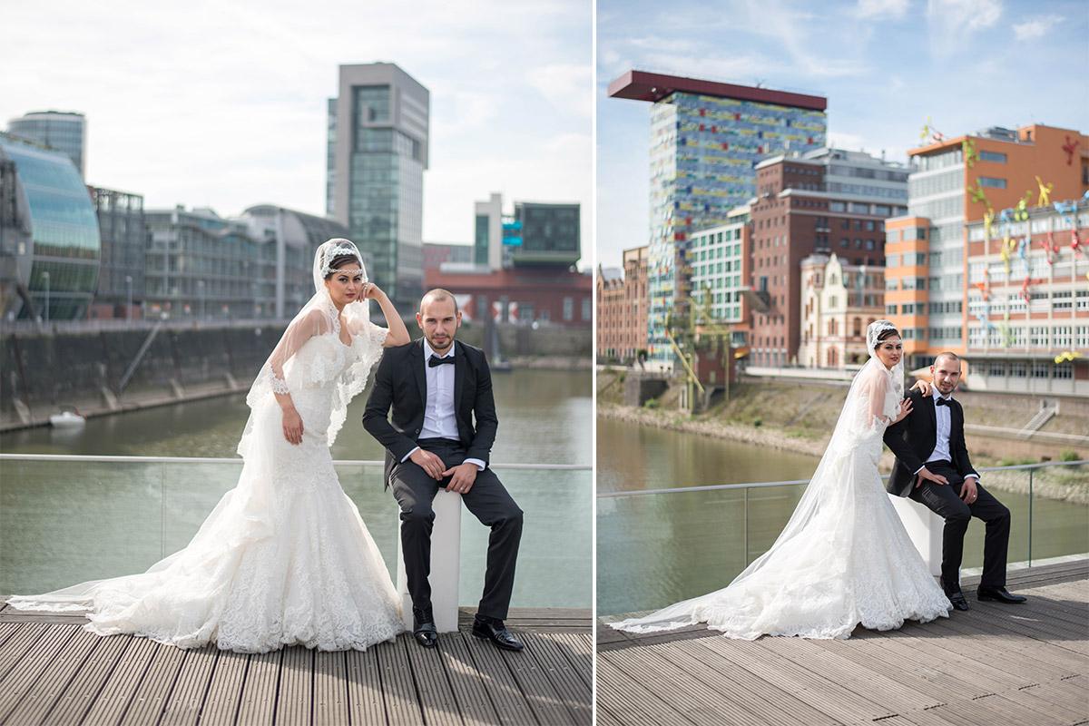 Medienhafen Düsseldorf Hochzeitsbilder