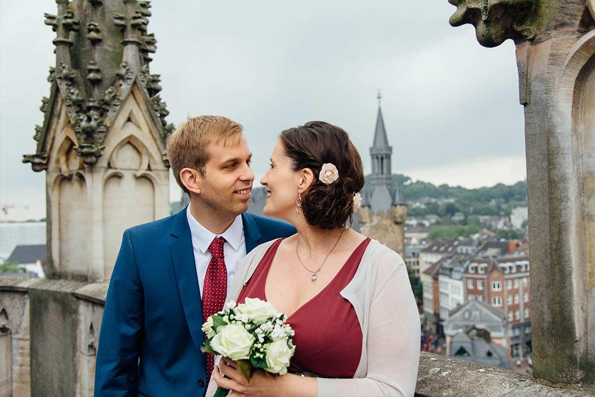 Dom Aachen Hochzeitsfotografin