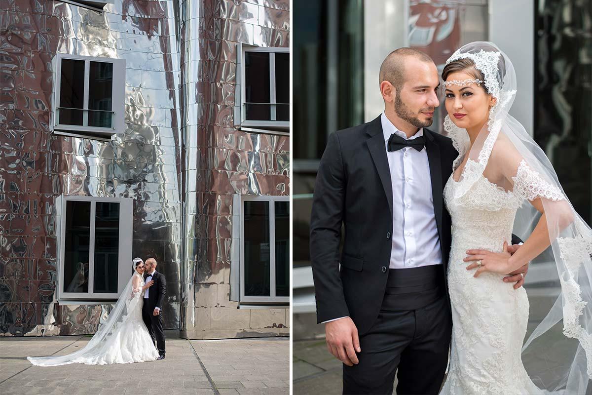 Hochzeitsbilder Medienhafen Düsseldorf