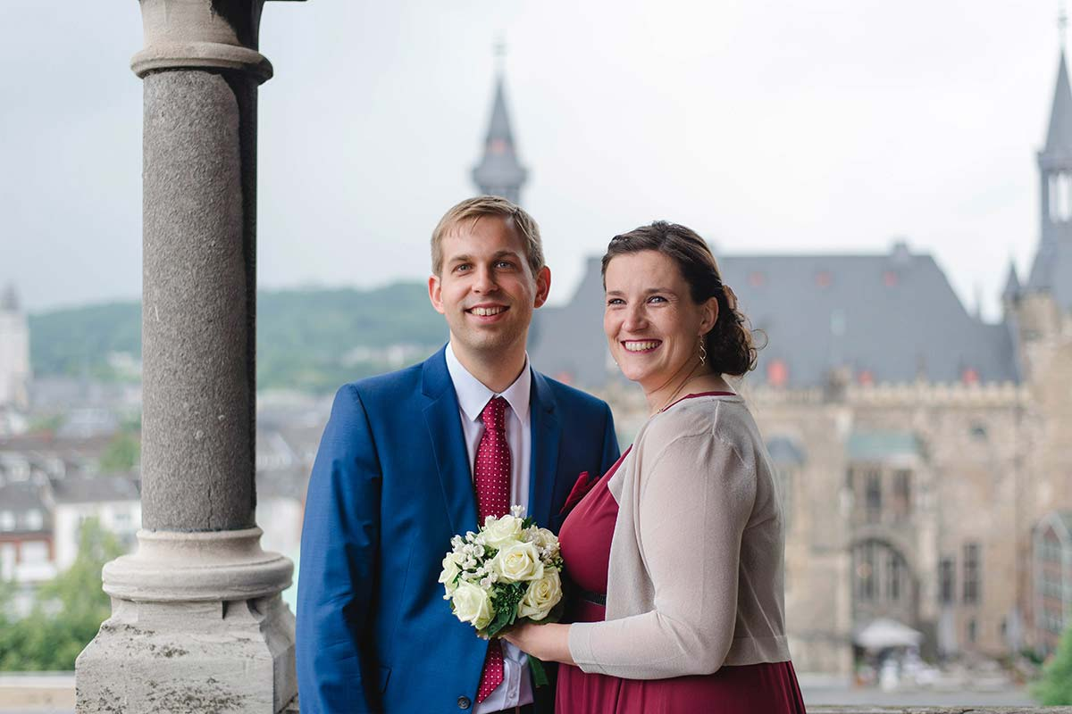 Hochzeitsfotos auf Aachener Dom