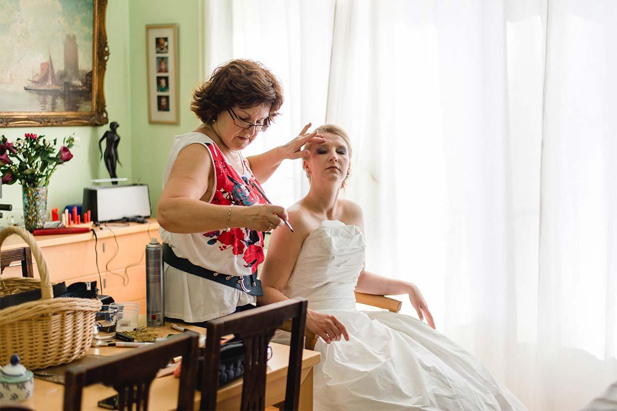 Hochzeitsfotos Getting-Ready
