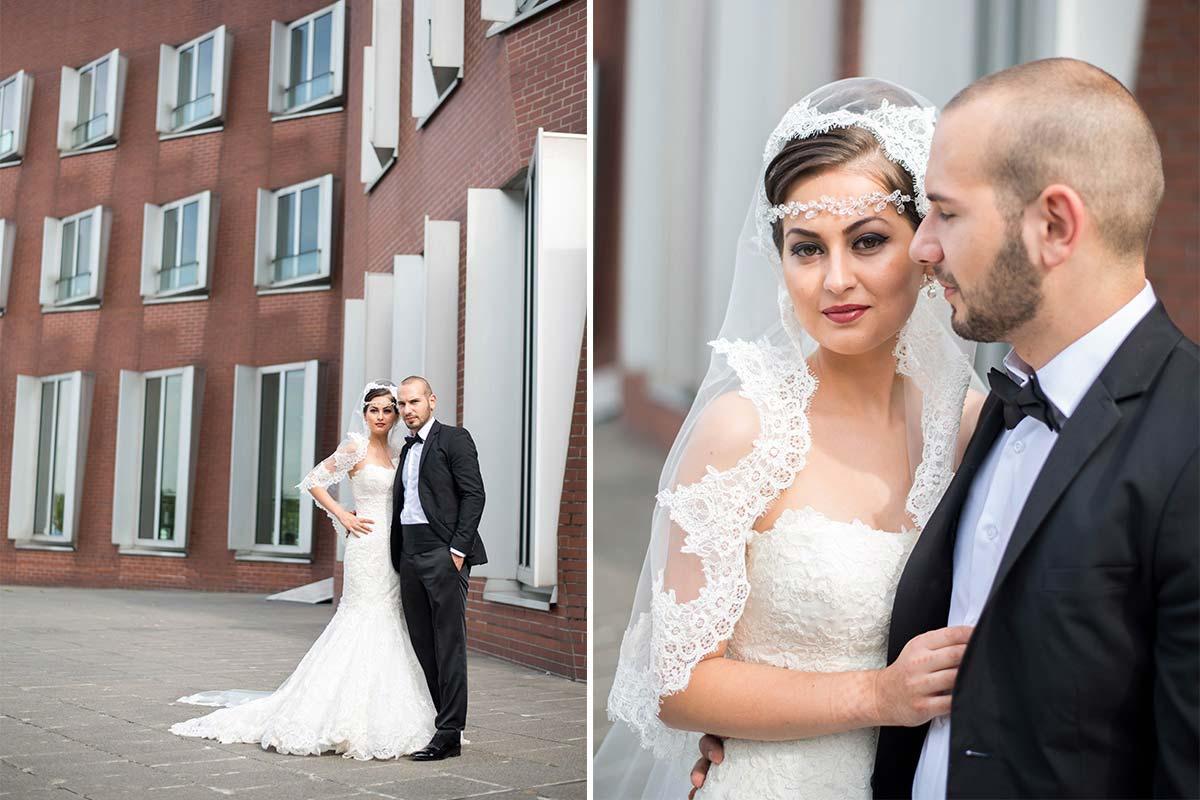 Hochzeitsfotos Medienhafen Düsseldorf