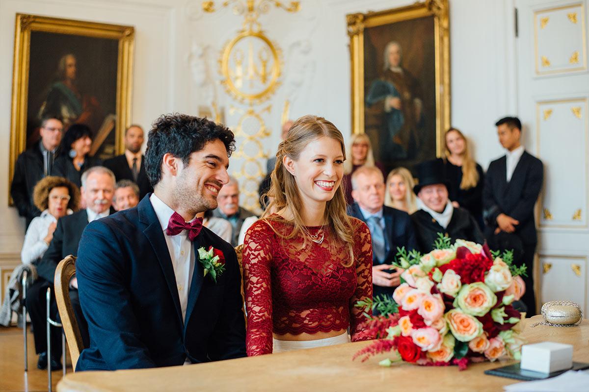 Hochzeitsbilder Trauung Weißer Saal