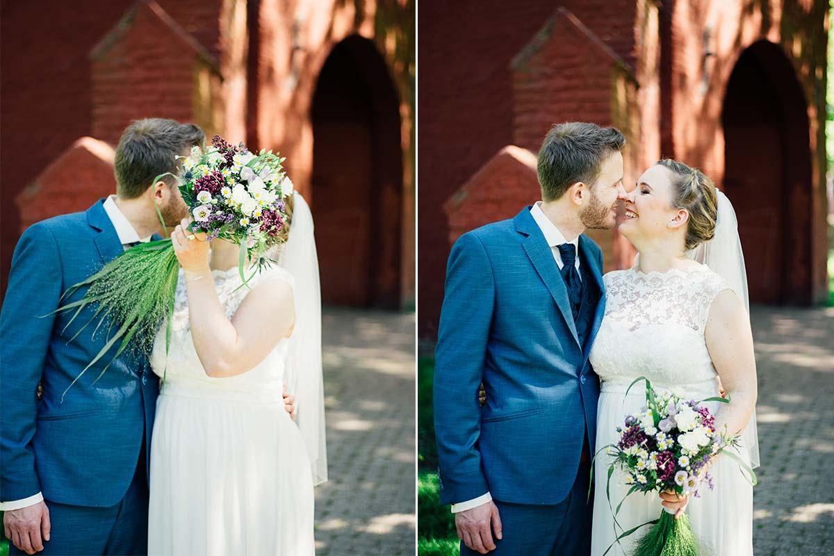 Der First Look Kuss Hochzeit