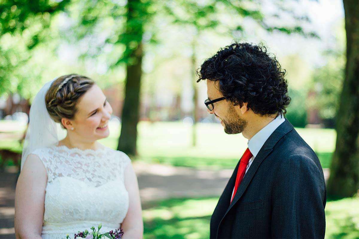 First Look Hochzeitsshooting