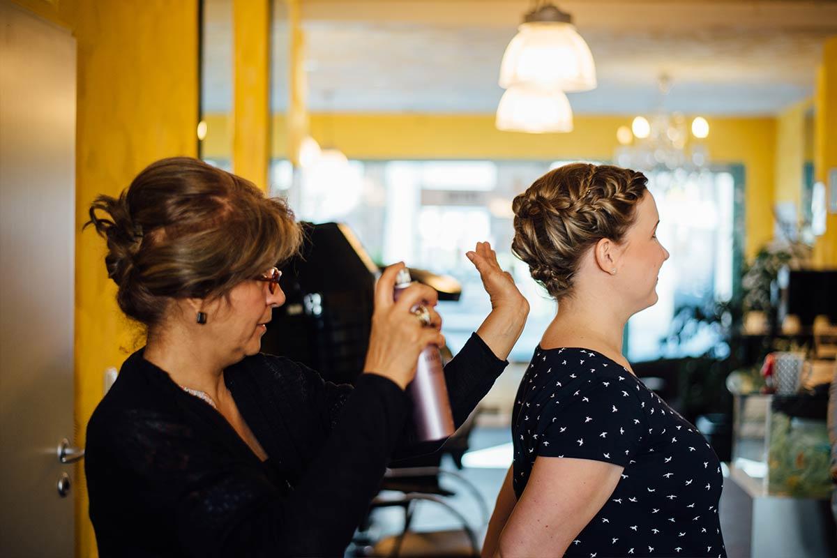 Getting Ready beim Friseur