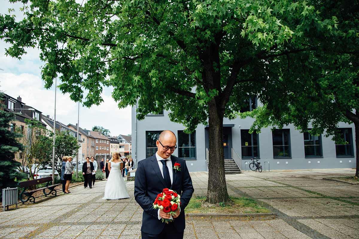 Aachen First Look Brautpaar