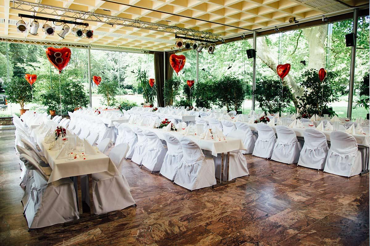 Hochzeitslocation Kurpark Terrassen Aachen