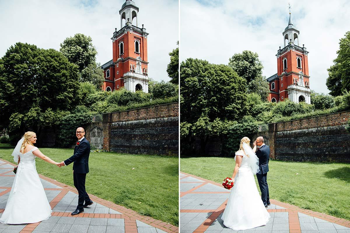 Natürliche Hochzeitsfotos Kurpark Terrassen Aachen