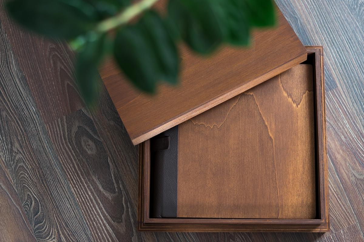 Fotoalbum aus Holz