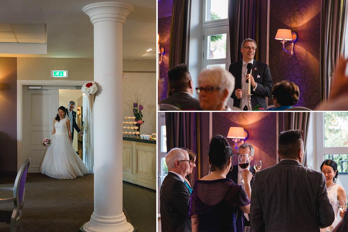 Hochzeitsfeier Schloss Bloemendal Raum Monastere