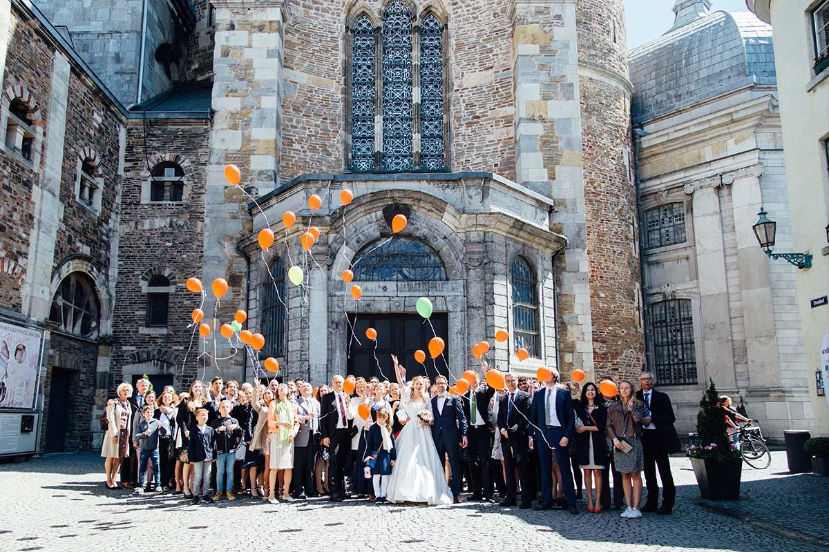 Gruppenfoto Aachener Dom