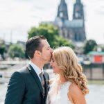 Hochzeitsfoto mit Kölner Dom