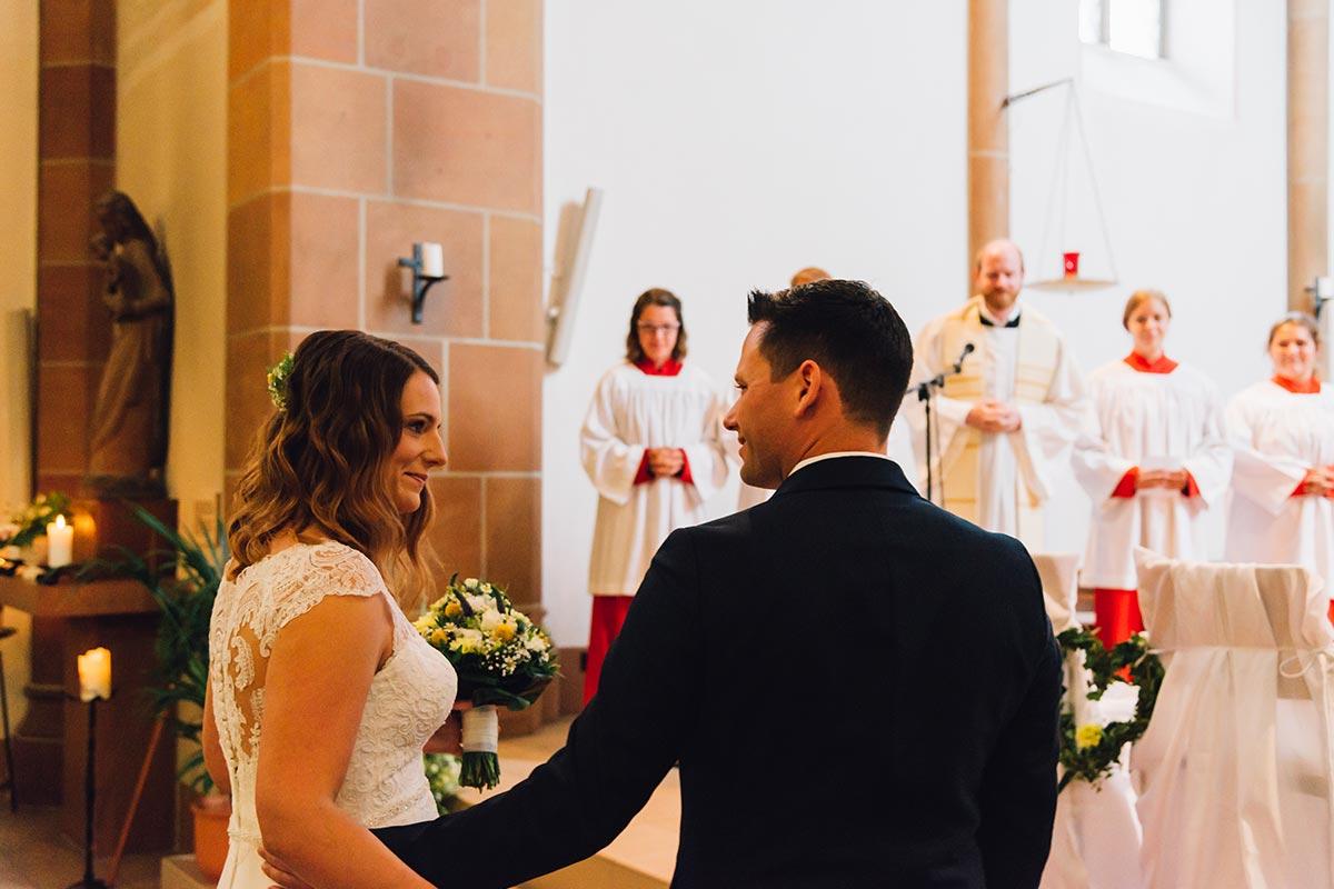 Ankunft Braut Kirche Altrich