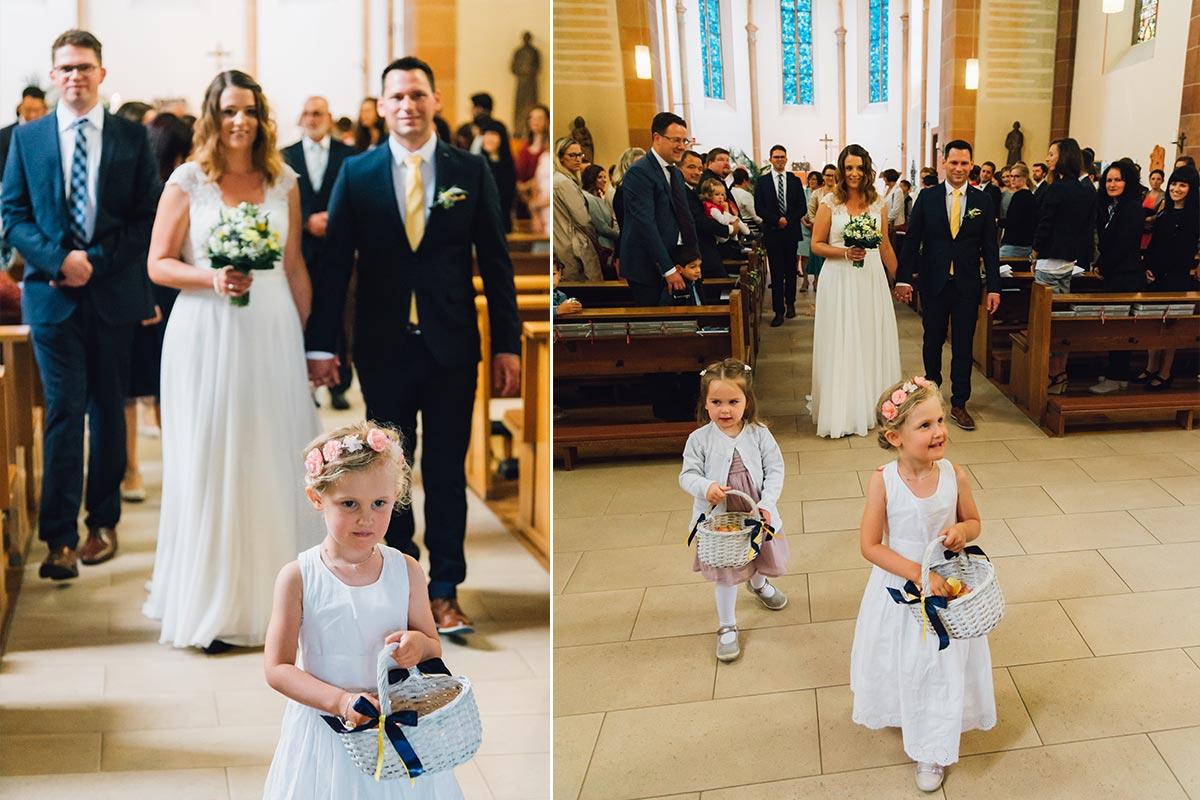 Ausmarsch Brautpaar St. Andreas Altrich