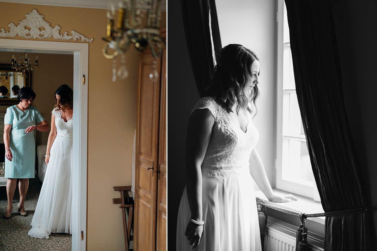 Braut Getting Ready - Weinromantikhotel Richtershof
