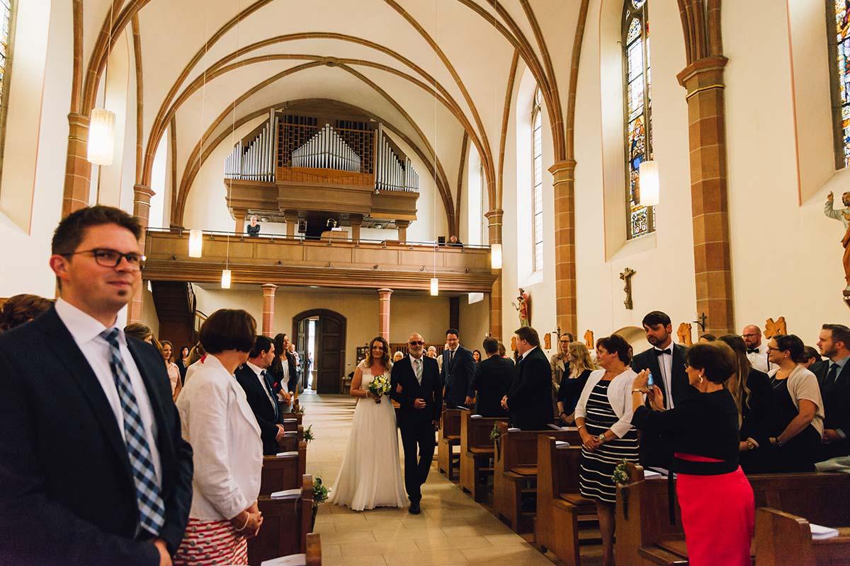 Brauteinmarsch Kirche Altrich