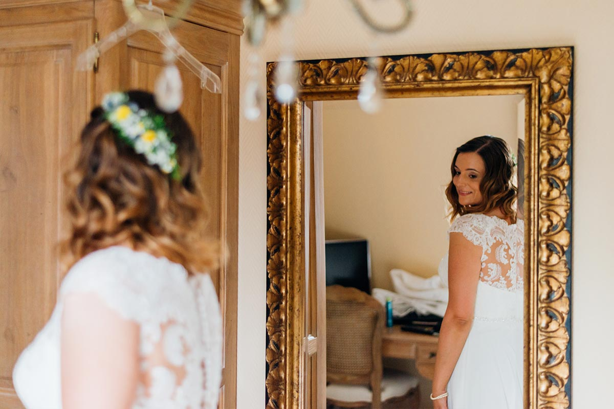 Erster Blick als Braut