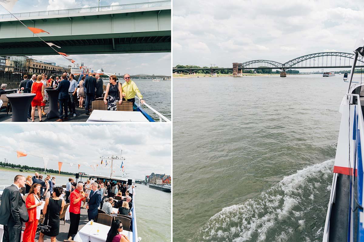 Hochzeit auf dem Rhein Köln