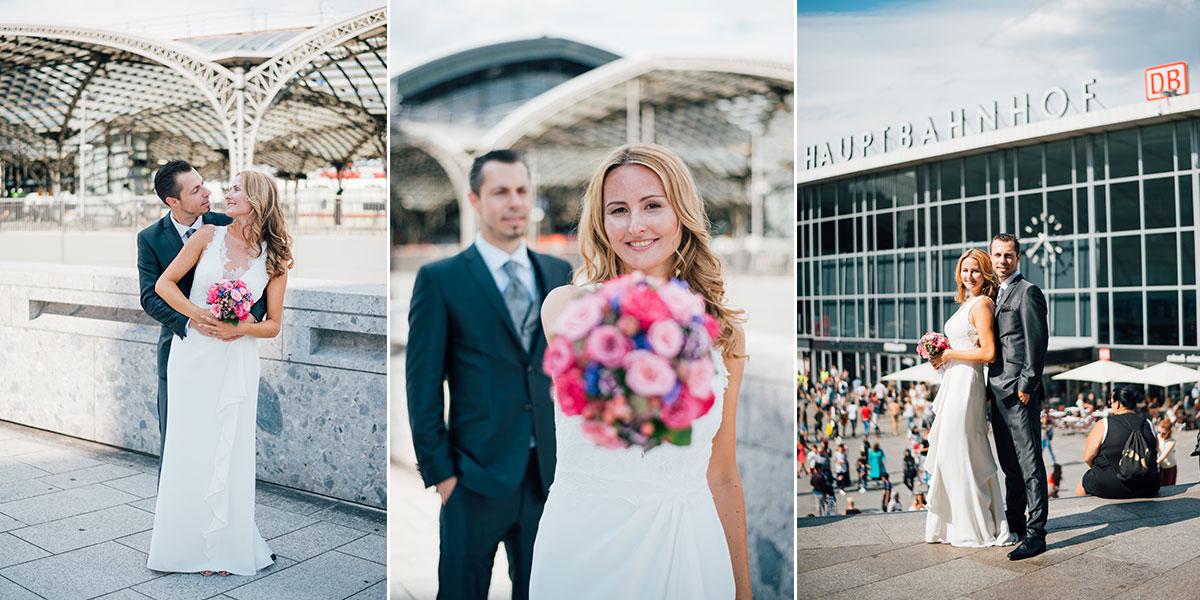 Hochzeitsfotos Kölner Hauptbahnhof