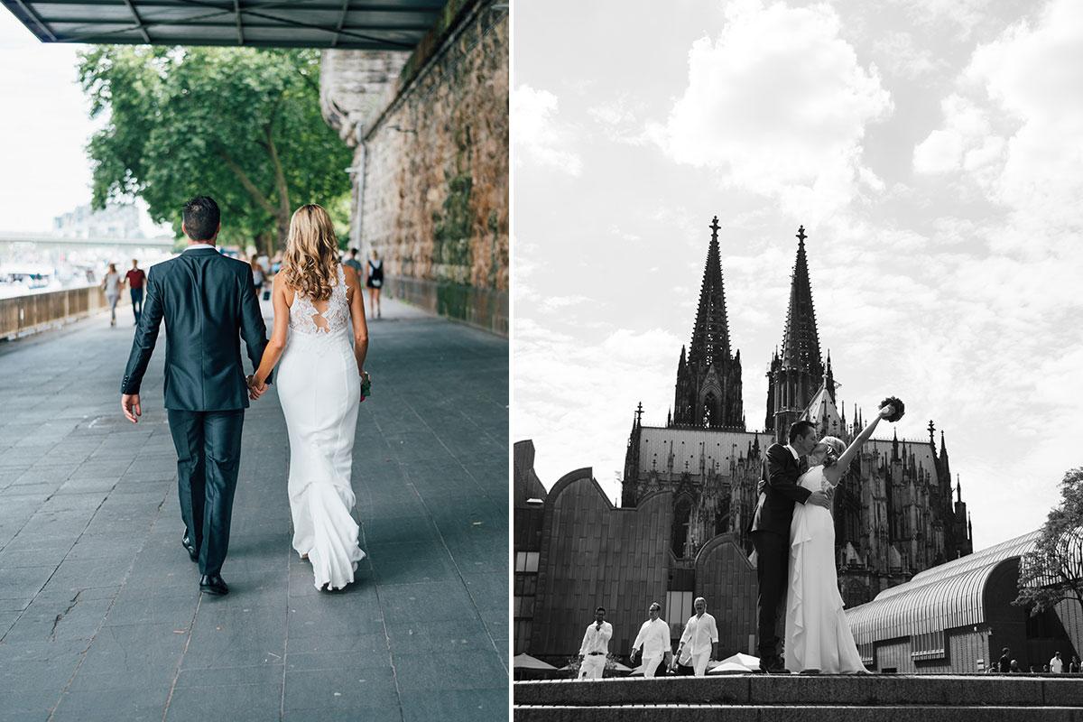 Hochzeitsfotos nahe Kölner Dom