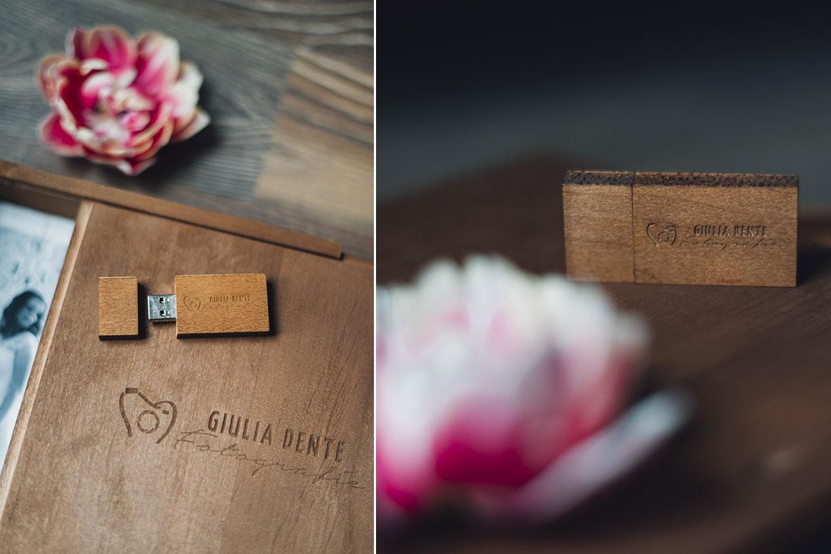 Holzbox mit USB-Stick für meine Brautpaare