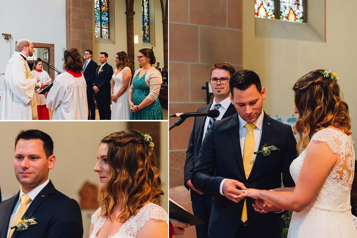 Kirchliche Hochzeit Altrich Ja-Wort
