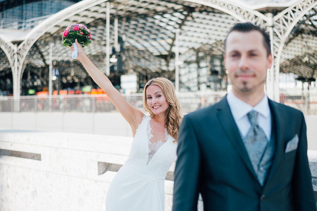 Kölner Hauptbahnhof Hochzeitsfotos