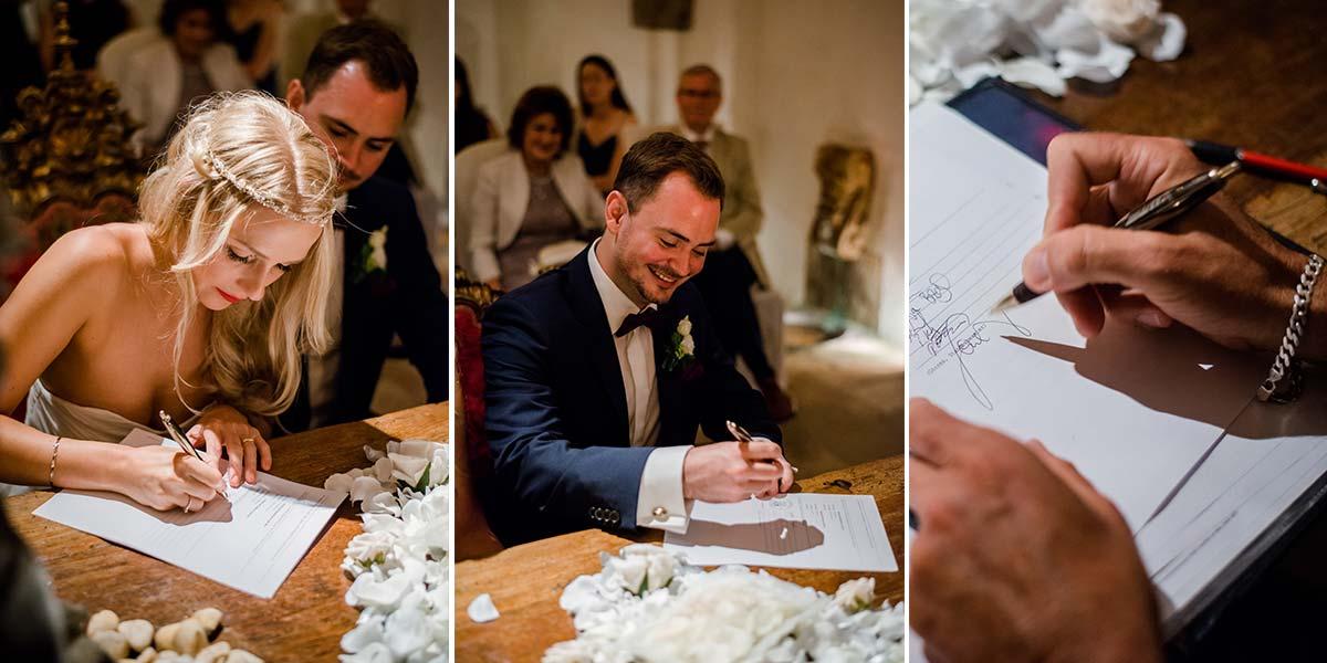 UNterschriften Hochzeit Alte Mühle Höreth