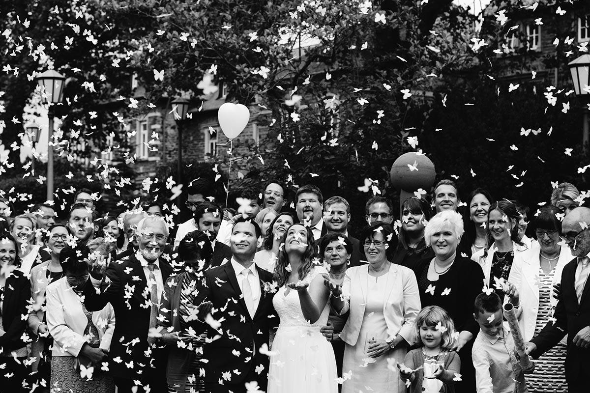 Weinromantikhotel Richtershof Hochzeitsgruppenfoto