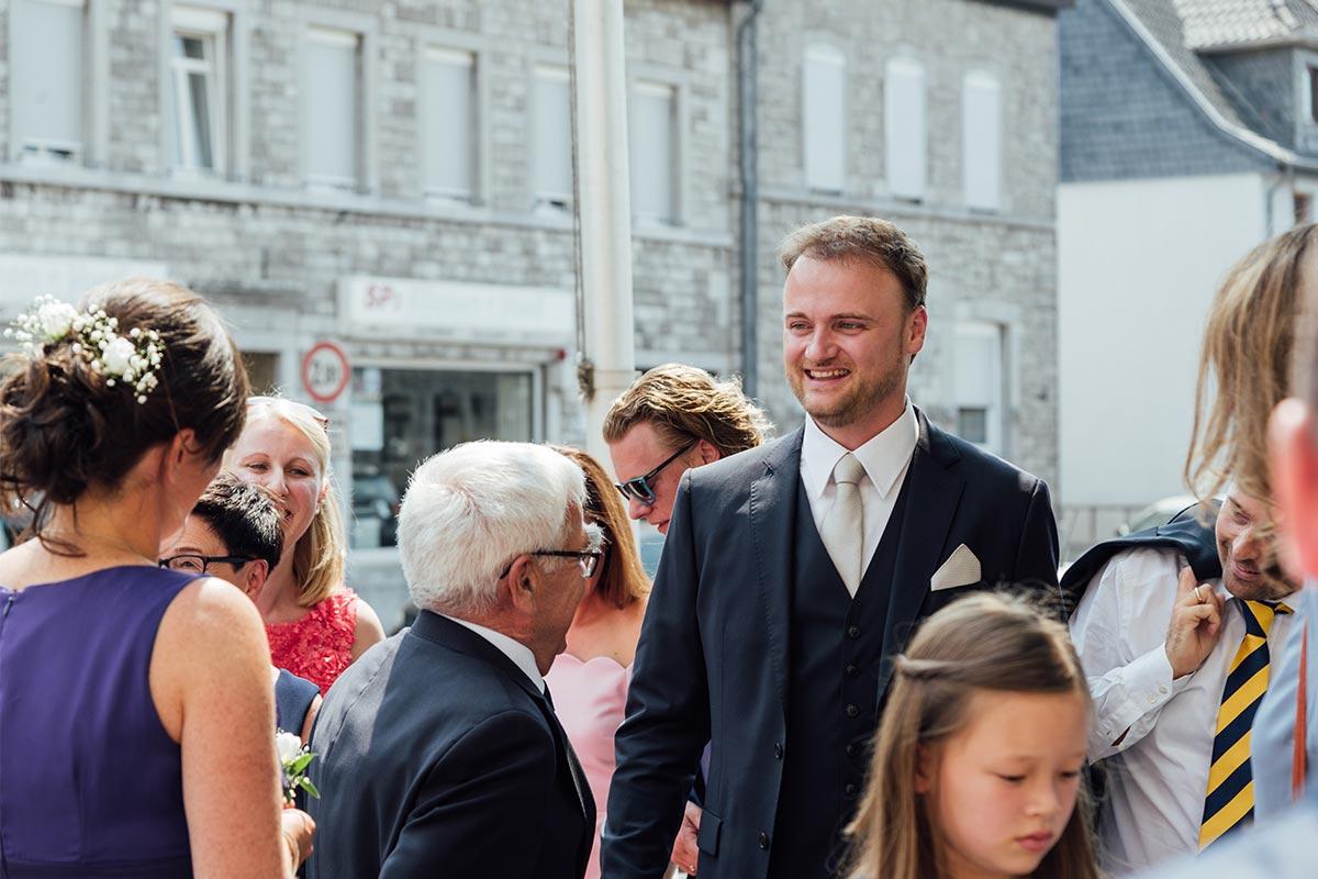 Ankunft Bräutigam Stolberg Hochzeit
