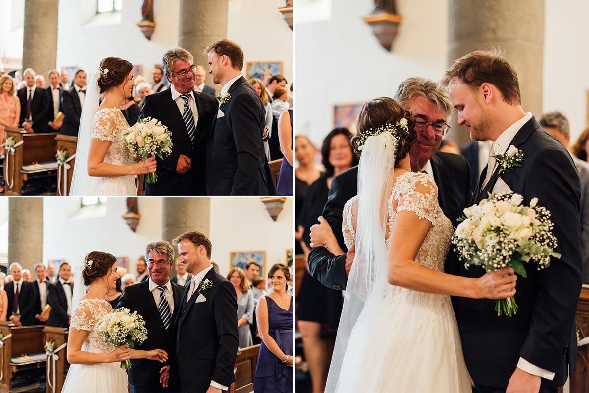 Einzug Braut Brautvater Hochzeit