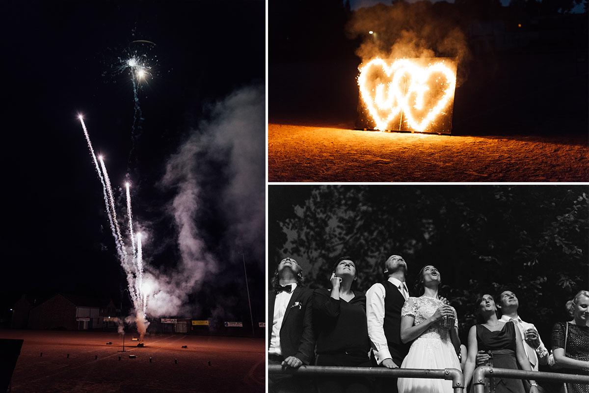 Feuerwerk auf Hochzeit