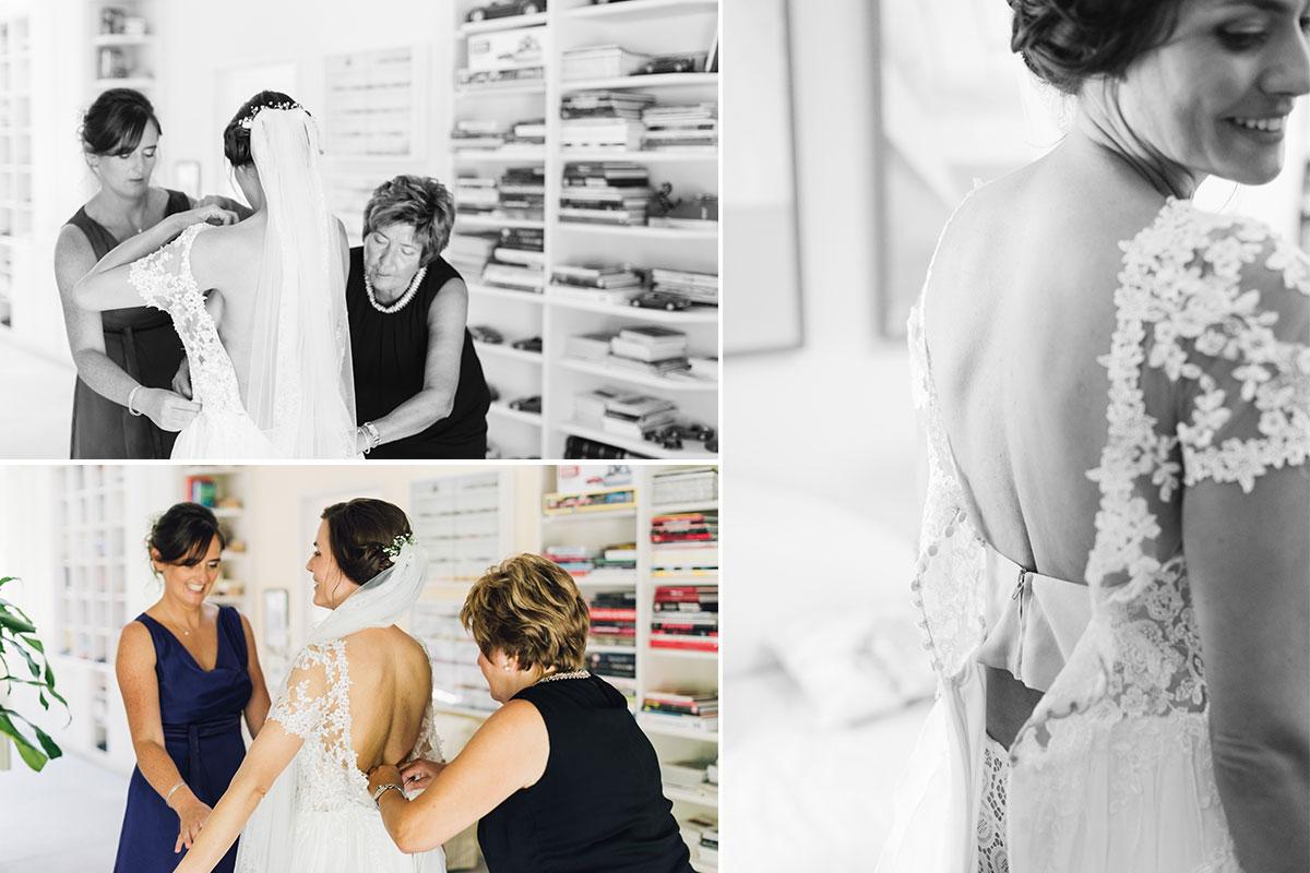 Getting Ready Braut Brautmutter Trauzeugin
