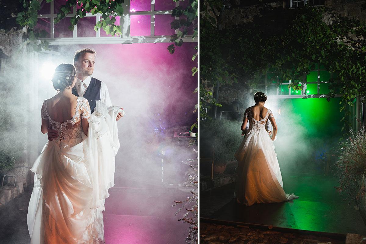 Hochzeitstanz unter freiem Himmel