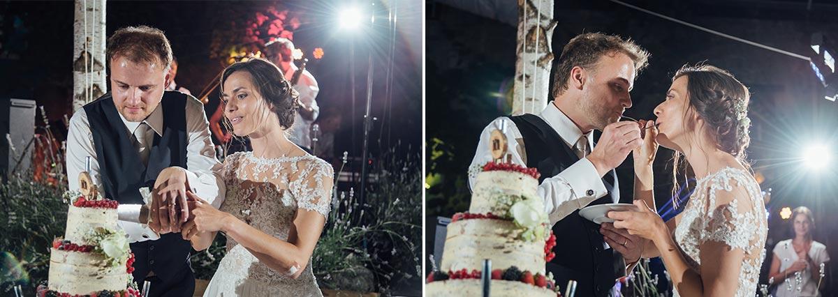 Hochzeitstorte Anschnitt Naked Cake