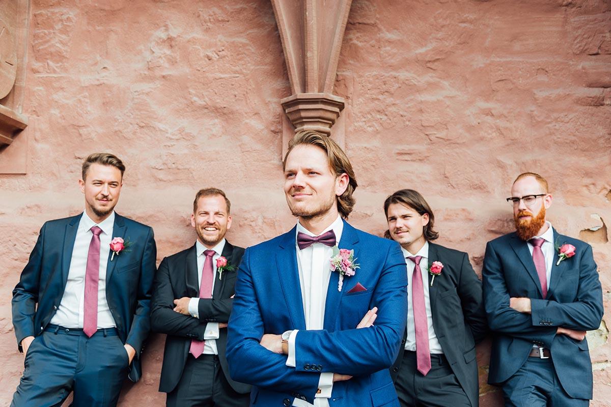 Best Men Bräutigam Hochzeit Schloss Burgau
