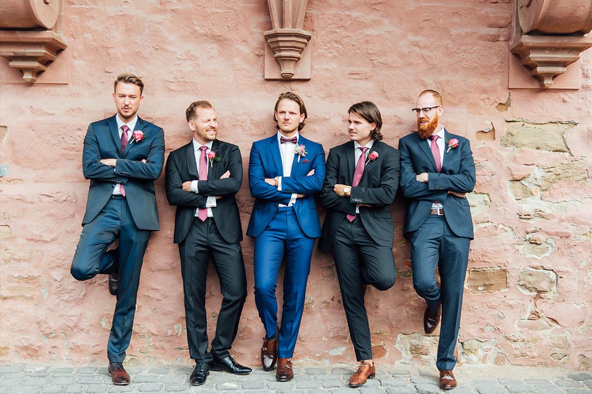 Bräutigam & Best Men - Hochzeit Schloss Burgau