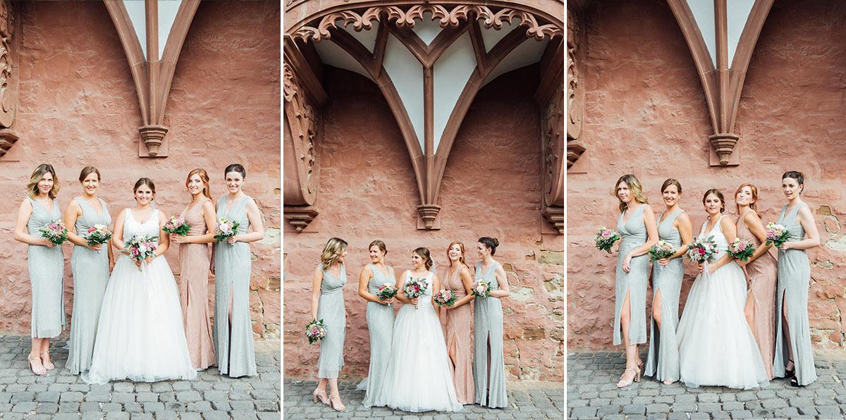 Braut Brautjungfern - Hochzeit Schloss Burgau