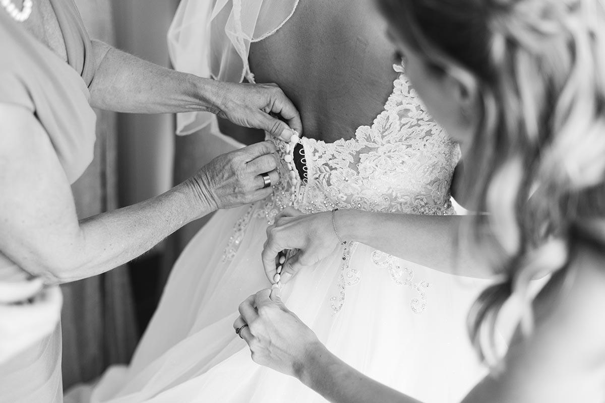 Brautkleid Rücken Details