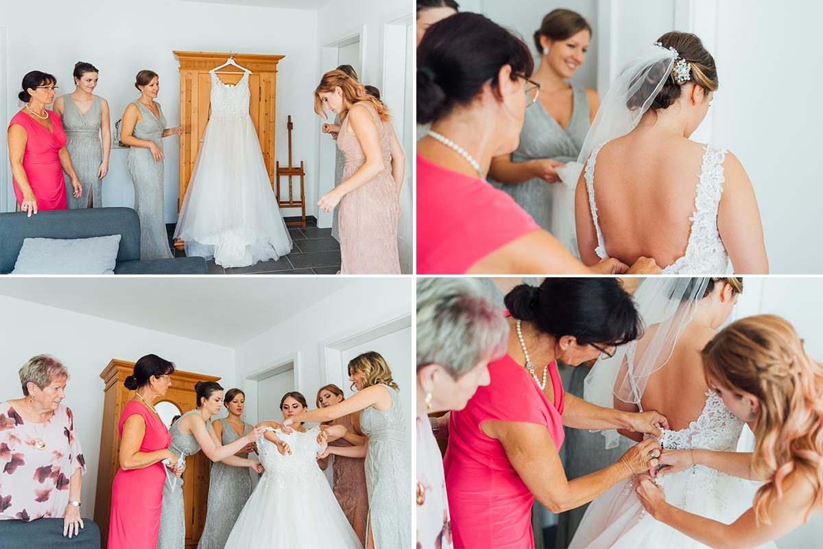Getting Ready - Brautkleid anziehen