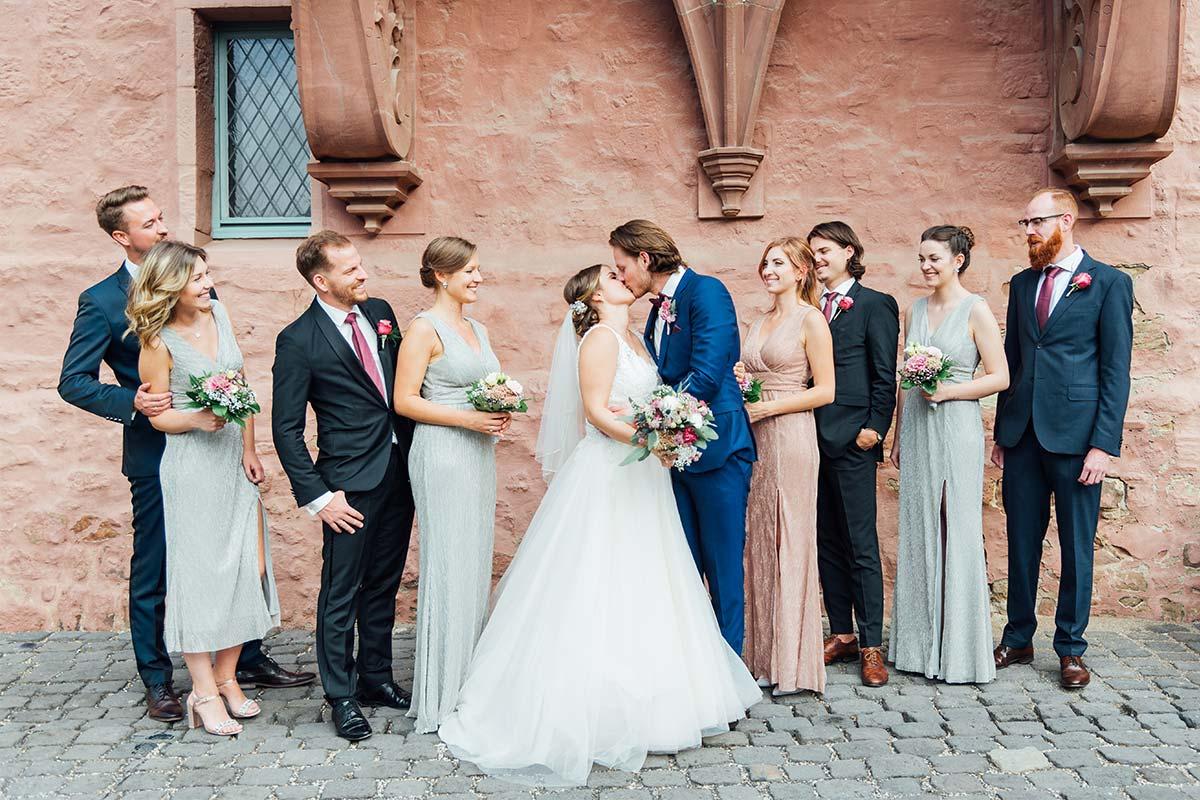 Hochzeitsfotografie Gruppenfotos Schloss Burgau