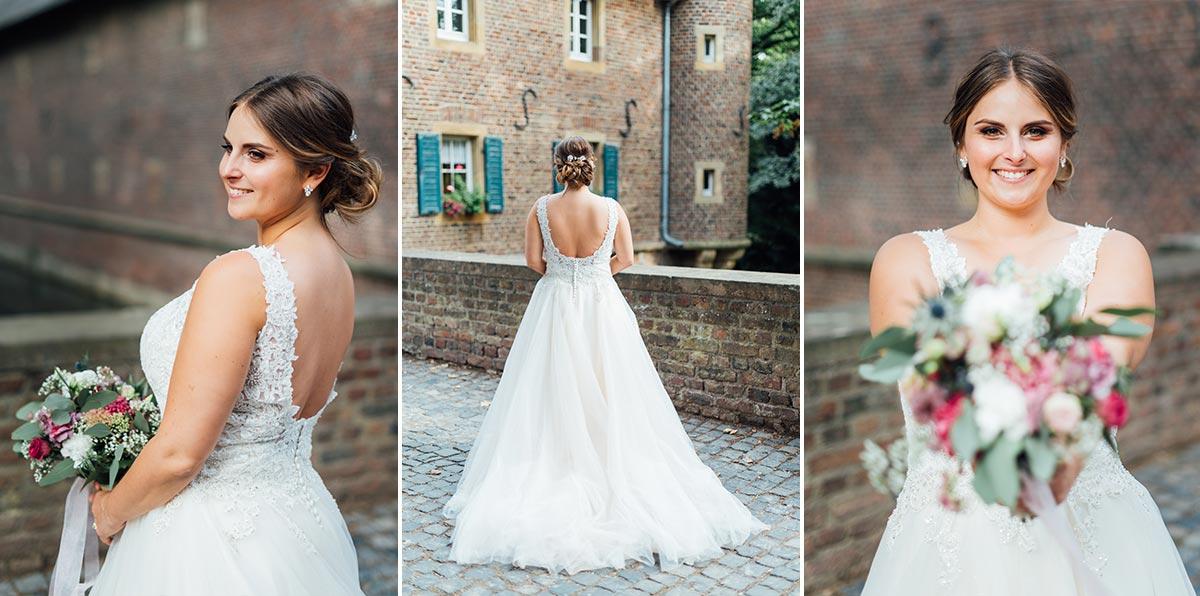 Hochzeitsfotos Braut Schloss Burgau