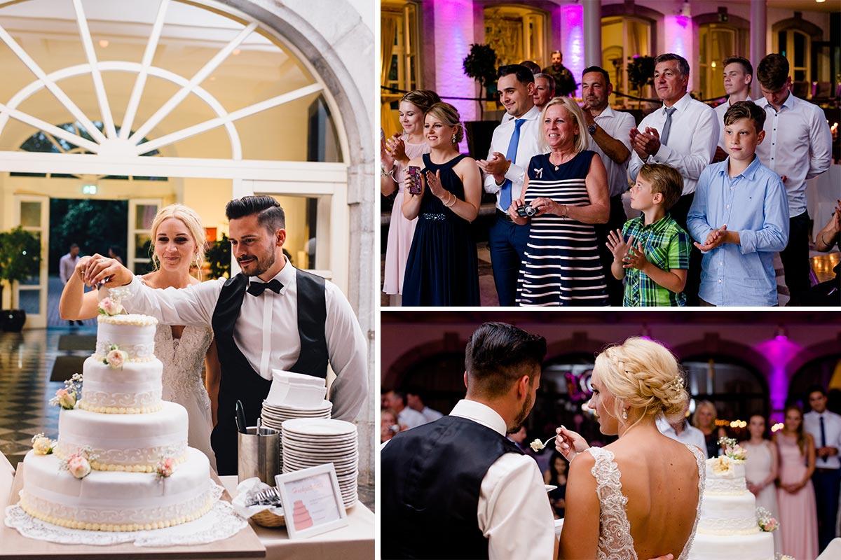 Hochzeitstorte Anschnitt Vintage Hochzeit