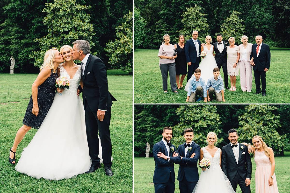 Klassische Gruppenfotos Hochzeitsgesellschaft Vintage Aachen