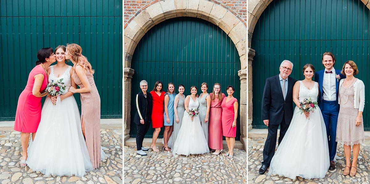 Schloss Burgau Hochzeit Gruppenfotos
