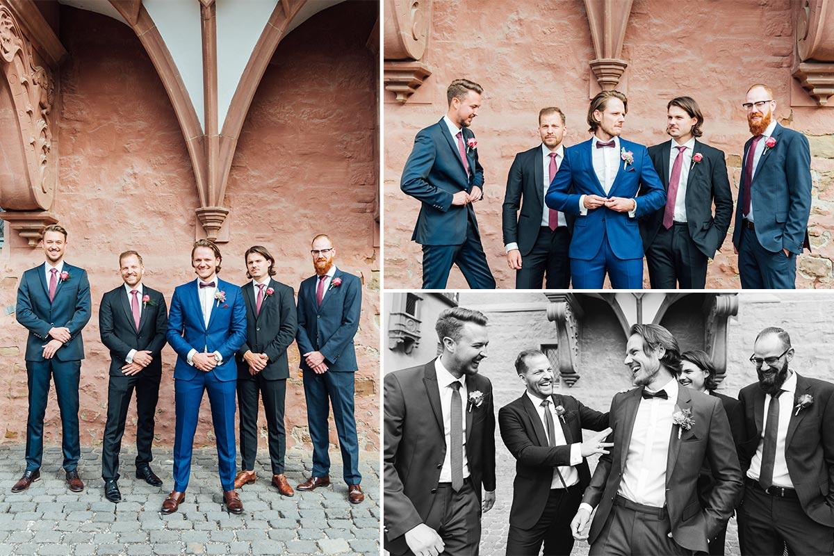 Schloss Burgau Hochzeitsfotografie Bräutigam & Best Men