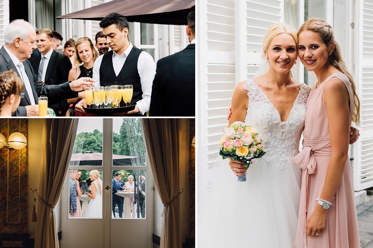 Sektempfang Vvintage Hochzeit