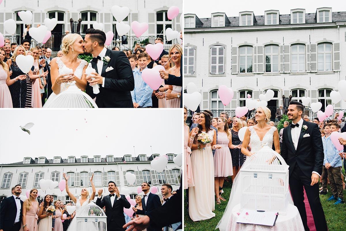 Tauben steigen lassen - Hochzeit Aachen
