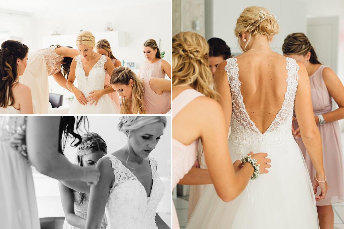 Vintage Hochzeitsreportage Braut Getting Ready